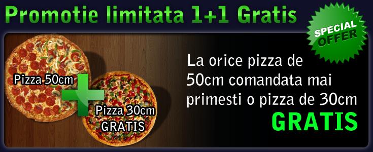 Promotie Pizza 1+1 Gratis